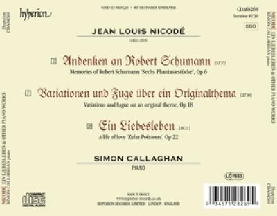 Simon Callaghan - Ein Liebesleben & Other Piano Works
