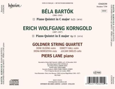 Goldner String Quartet Piers Lane - Piano Quintets
