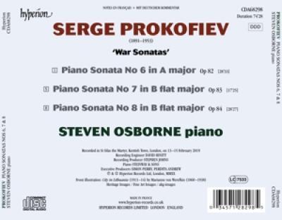 Steven Osborne - Piano Sonatas Nos 6 7 & 8