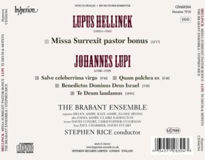 The Brabant Ensemble Stephen Rice - Motets Te Deum Missa Surrexit Pasto