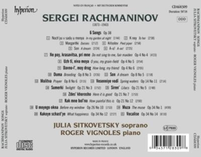 Julia Sitkovetsky - Songs