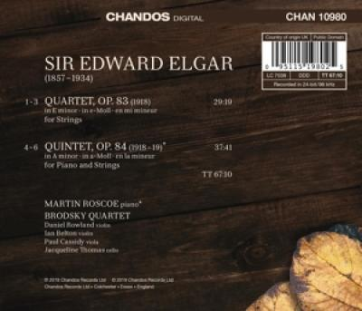 Brodsky Quartet Martin Roscoe - Elgar String Quartet Piano Quintet