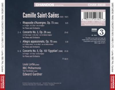 Bbc Philharmonic Edward Gardner Lou - Saint-Saens Piano Concertos 3 & 5 E
