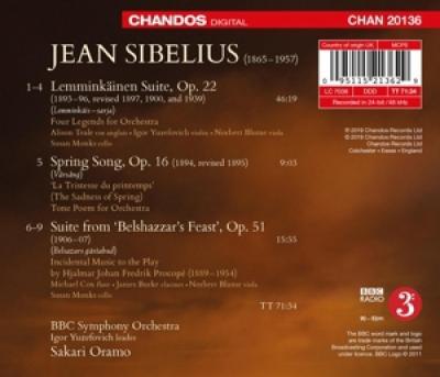 Bbc Symphony Orchestra Sakari Oramo - Sibelius Lemminkainen Suite Spring