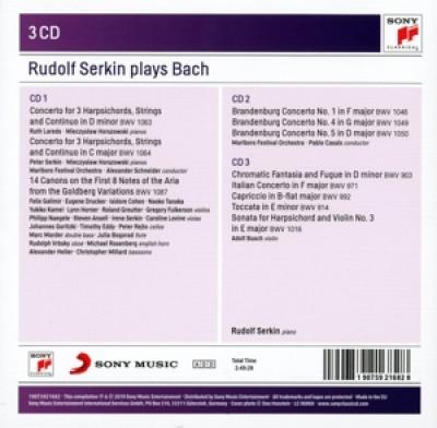 Serkin, Rudolf - Plays Bach 3CD