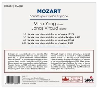 Jonas Vitaud Mi-Sa Yang - Mozart Sonate Pour Violon Et Piano
