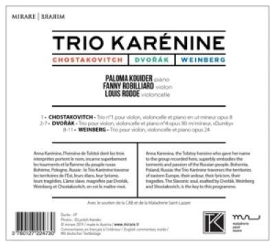 Trio Karenine - Chostakovitch Dvorak Weinberg