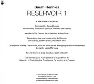 Sarah Hennies - Reservoir 1