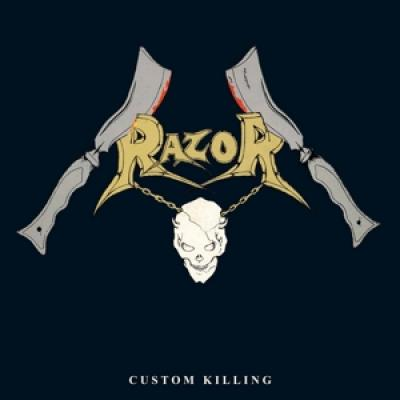 Razor - Custom Killing (Transparent Royal Vinyl) (LP)