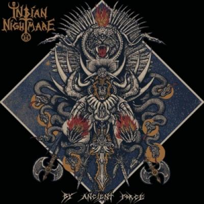 Indian Nightmare - By Ancient Force (Neon Orange Vinyl) (LP)