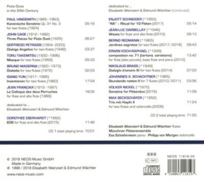 Elisabeth Weinzierl Edmund Wachter - Flute News CD