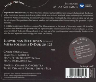 Beethoven, L. Van - Missa Solemnis (Jeffrey Tate/English Chamber Orch./Carol Vaness A.O.)