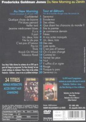 Goldman, Jean-Jacques - Du New Morning Au Zenith (DVD)