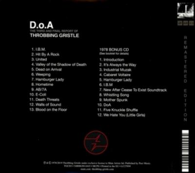 Throbbing Gristle - D.O.A. The Third And Final Report O (2CD)
