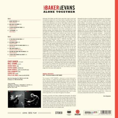 Baker, Chet & Bill Evans - Alone Together (Red Vinyl) (LP)