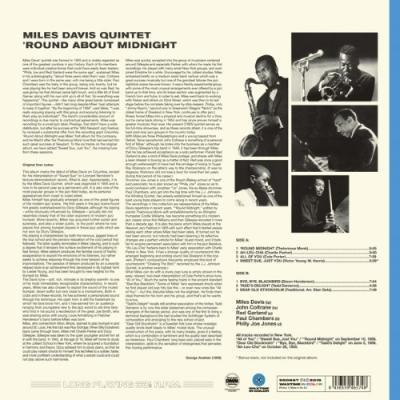 Davis, Miles - 'Round About Midnight (Transparant Blue Vinyl) (LP)
