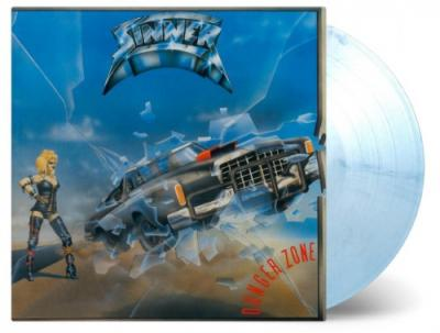 Sinner - Danger Zone (White & Blue Vinyl) (LP)