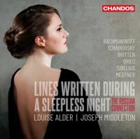 Louise Alder Joseph Middleton - Lines Written During A Sleeplesss N