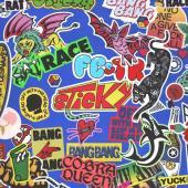 Carter, Frank & The Rattlesnakes - Sticky (Trans Blue & Solid Red Splatter) (LP)